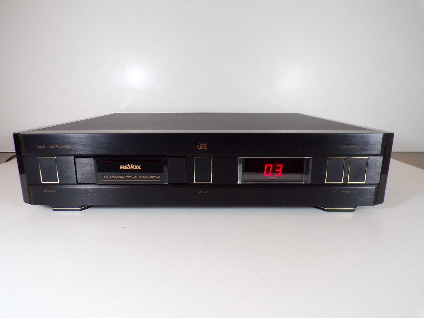 cd player revox h2 revox h2 schwarz guter zustand. Black Bedroom Furniture Sets. Home Design Ideas