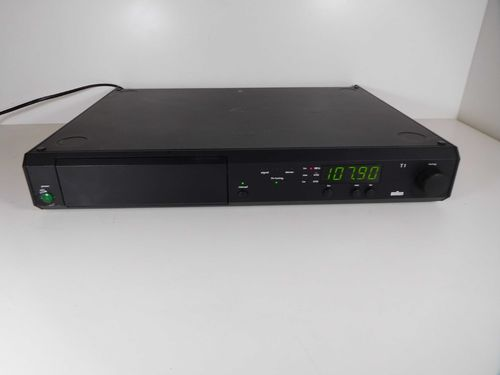Tuner Braun Atelier HiFi T1, good condition, black, 11506