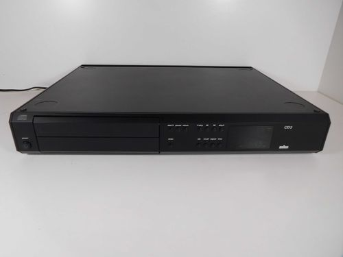 CD Player Braun Atelier HiFi CD2, very good condition, black, Sgcd2SW