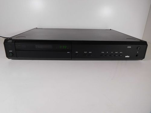 CD Player Braun Atelier HiFi CD5/2, black, very good condition, sgcd5/2sw