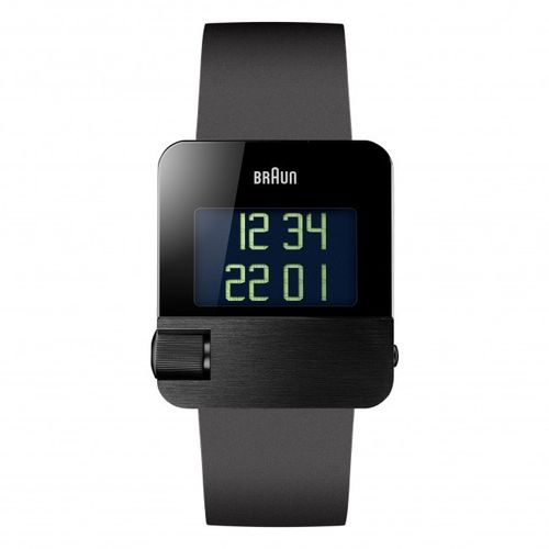 Braun BN0106 gents prestige digital watch, black, great design, brand new