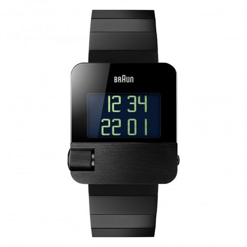 Braun BN0106 gents prestige digital watch, black, great design, brand new, 66535