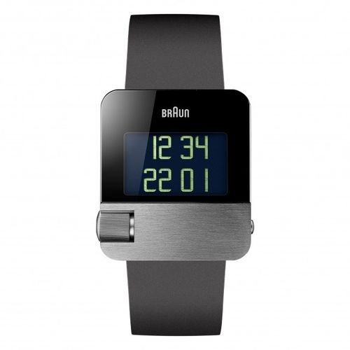 Braun BN0106 gents prestige digital watch, silver, great design, brand new