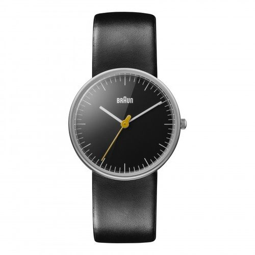 Braun BN0021 ladies wristwatch, black, watch with leather strap, brand new