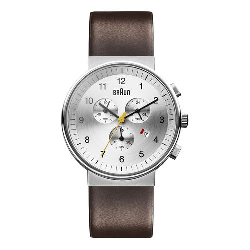 Braun gents BN0035 classic chronograph watch with leather strap, SLBRG, 66554