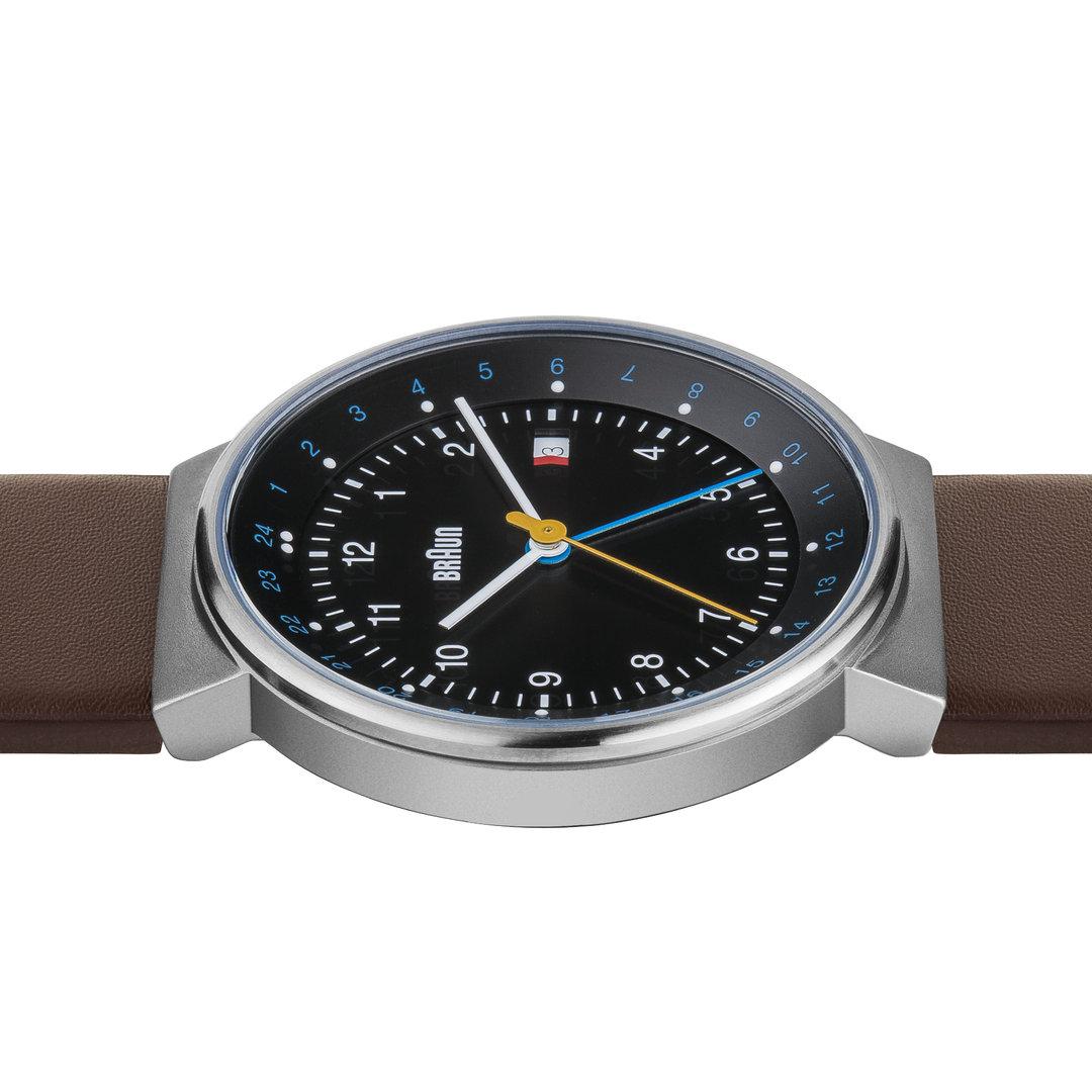 Time Dual Lederband Herren Braun Uhr Bn0142 Klassisch Mit 35AL4Rjq
