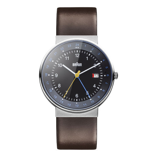 Braun gents BN0142 classic dual time watch with leather strap, BKBRG, 66558, brand new