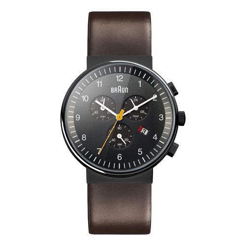 Braun gents BN0035 classic chronograph watch with leather strap, BKBRG, 66555