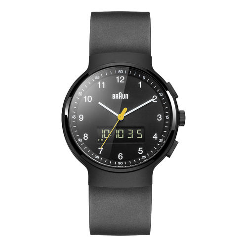 Braun gents BN0159 classic watch with rubber strap, BKBKG, 66561, brand new
