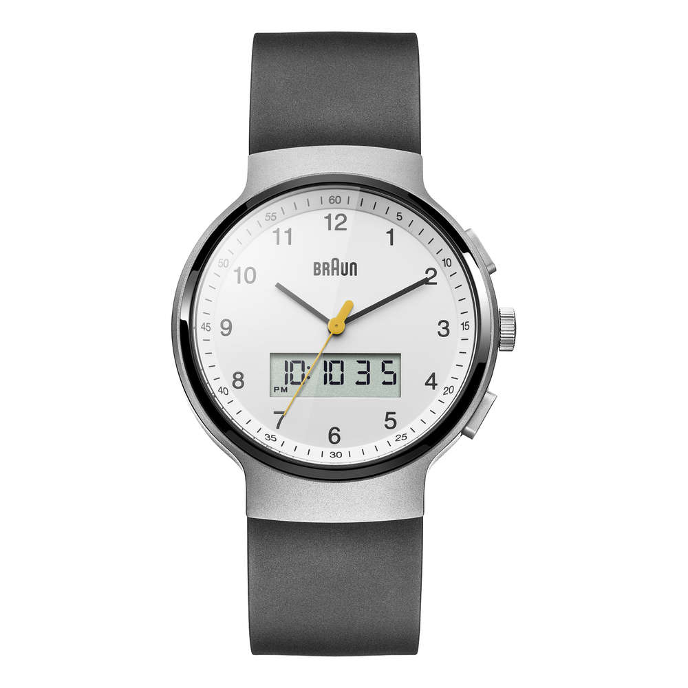 Braun gents BN0159 classic watch with rubber strap, WHBKG, 66563