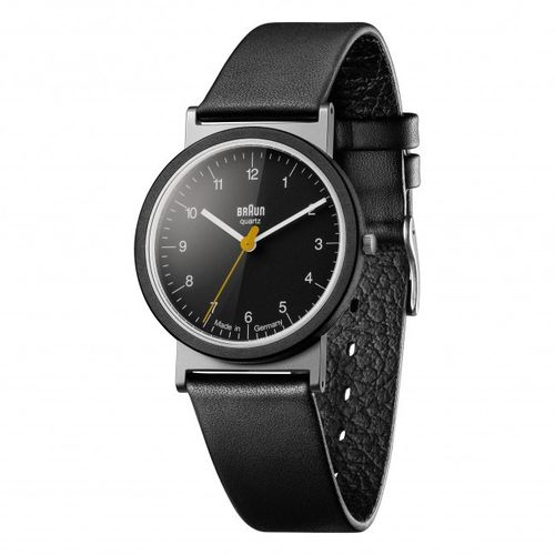 Braun Design AW10 classic gents watch with leather strap, NEW