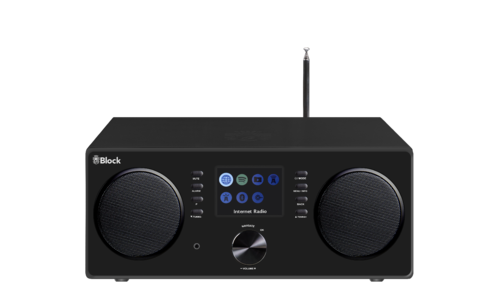 Audio Block CR-20 internet radio with UKW, DAB+, Bluetooth, Spotify, black, brand new