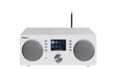 Audio Block CR-20 internet radio with UKW, DAB+, Bluetooth, white, brand new