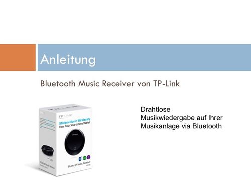Manual use of bluetooth adapter with braun atelier system or vintage receiver