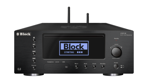 Audio Block CVR-50 CD-Internet-Receiver, Bluetooth, DAB+, schwarz, Neu+OVP