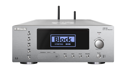 Audio Block CVR-50 CD-Internet-Receiver, Bluetooth, DAB+, silber, Neu+OVP