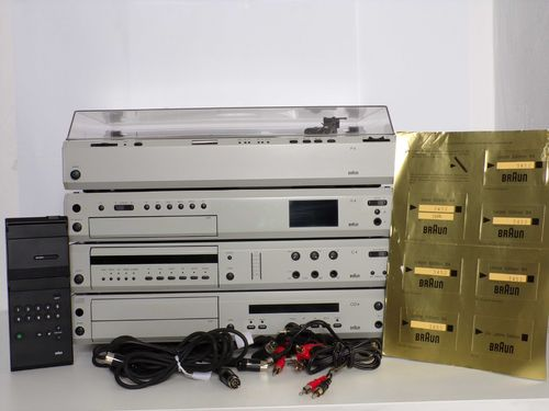 Stereo system Braun Last Edition R4/2, CD4/2, C4, P4, grey, very good condition