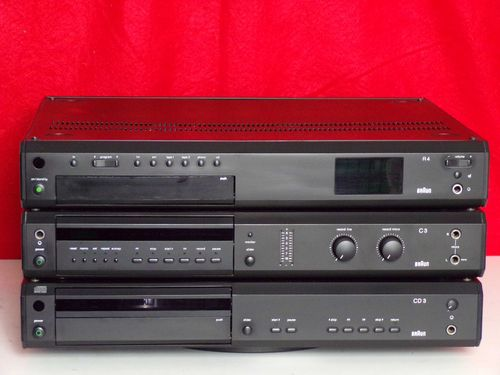 Special offer: stereo system braun atelier HiFi R4, C3, CD3, black, very good condition