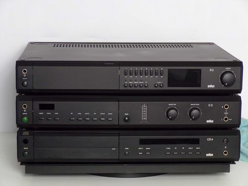 Sale: Stereo system Braun R2 CD4 C2, black, very good condition