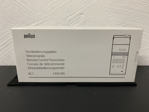Remote control Braun Atelier Hifi RC1/2, NEW old stock, RC 1 /2, TOP