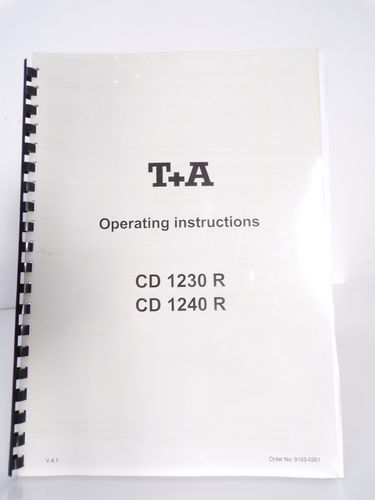 T+A Operating instructions CD 1200 R und CD 1240 R in englisch, SV192