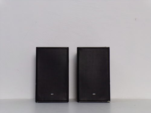 Speakers Braun Atelier HiFi CM5, black, moderate condition, 5018/17237&17239