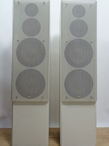 Speakers Braun Atelier HiFi LS150, grey, good condition, 5013/18598&18597