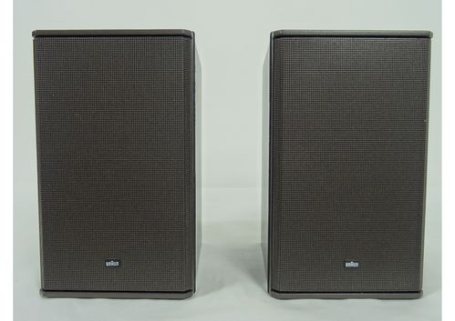 1 pair Braun Atelier CM5 HiFi speakers, bronze, good condition, 5040/19545