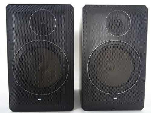 Speakers Braun Atelier HiFi LS70, black, very good condition, XXX