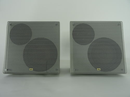 Braun HiFi LSV speakers, grey, good condition, 5166/12688&12689