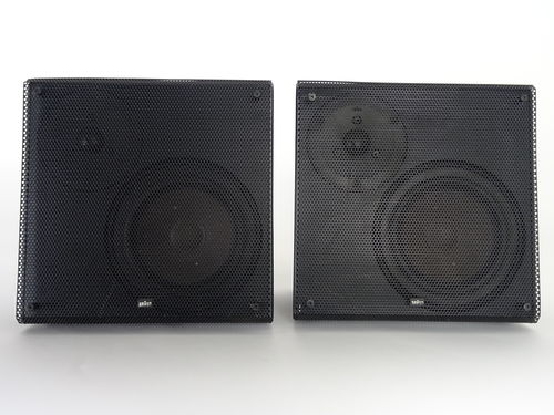 Speakers Braun Atelier HiFi LS40, black, good condition, 5282/15475&15476